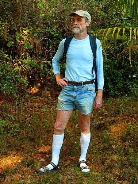 450px-Hiking_in_Knee_Socks,_Sandals,_and_Cut-offs.jpg