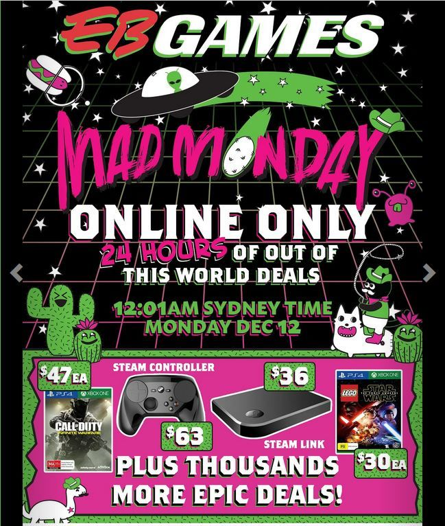 9de916d64 Multiplat - EB Games Mad Monday Online Sale - 12th Dec