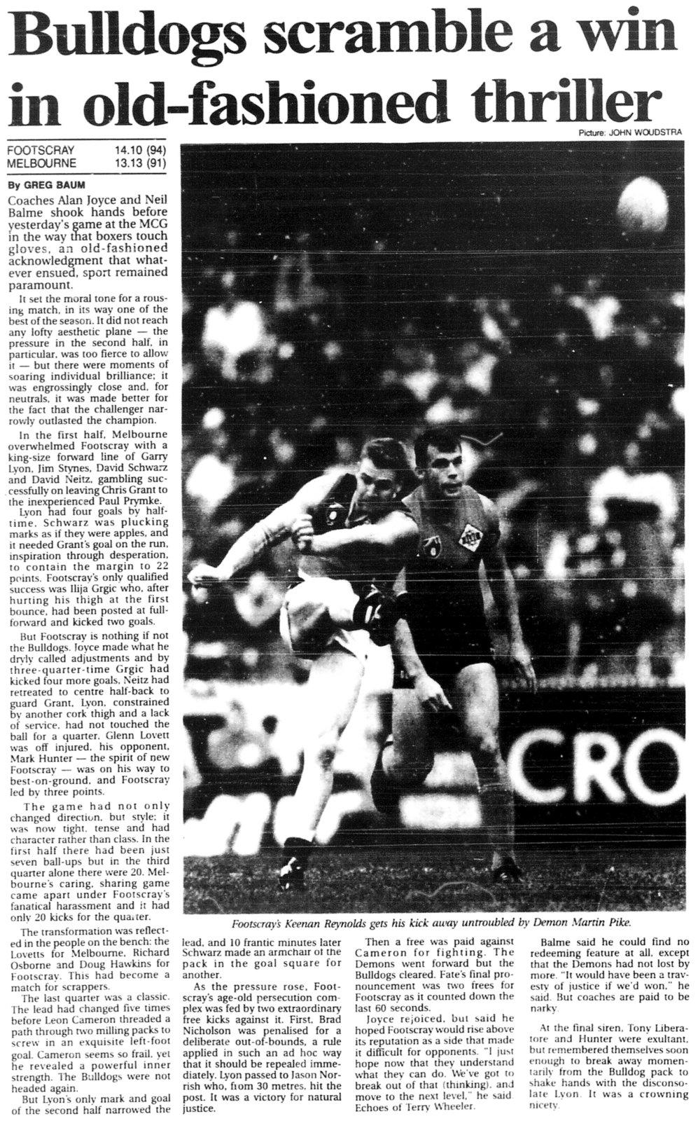 Footscray Football Club - Report [1] - The Age - 16 May 1994.jpg