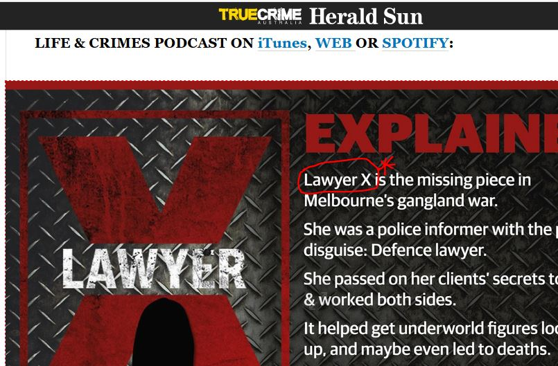 Current - Royal Commission into Lawyer X gangland