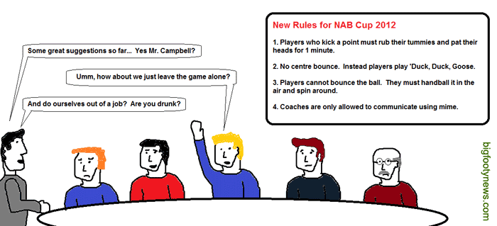 4 New Rules for NAB Cup 2012