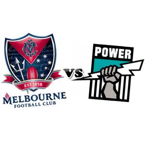 Melbourne logo Port Adelaide logo