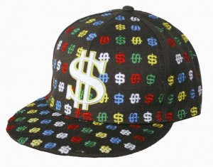 Cap with dollar signs