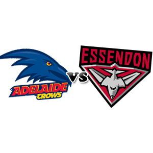Adelaide Crows logo Essendon Bombers logo