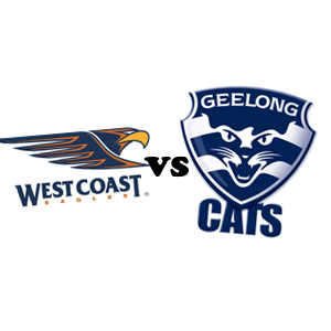 West Coast Eagles logo; Geelong cats logo