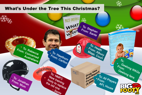 What's under the Christmas tree at AFL House?