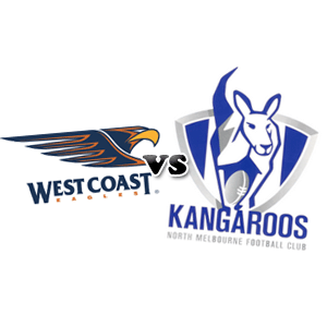 west coast eagles vs north melbourne
