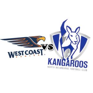 west coast eagles vs north melbourne