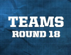 AFL Teams, Round 18 2014