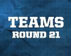 AFL Teams – Round 21, 2014