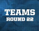 AFL Teams Round 22, 2014